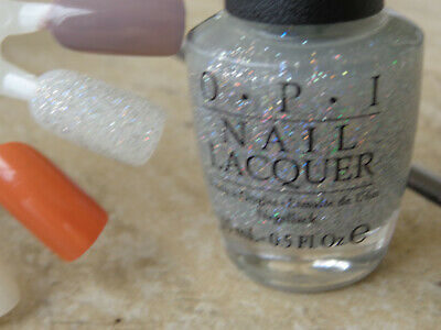 OPI Nail Polish Champagne For Breakfast HR H02 Glittery Holo! Tiffany's! New!