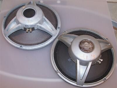 "2 vintage Electro Voice Wolverine LS12 extended range whizzer cone 12"" speakers"