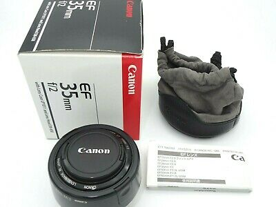 [NEAR MINT] Canon EF 35mm f2 Very Nice lens with Box Pouch Hood Filter from JP