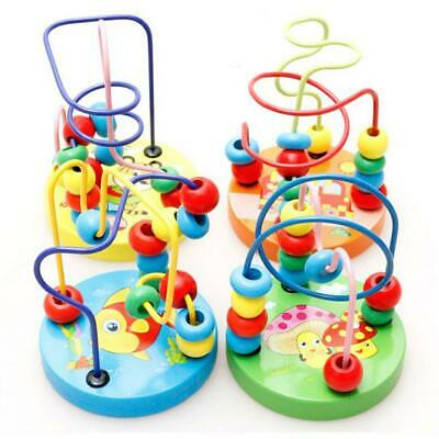 Baby Toddler Lovely Animals Maze Roller Coaster Round Beads Educational N4U8 01