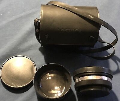 Yashica Yashikor Telephoto And Wide Angle 1:4  With Lens Cap And Case