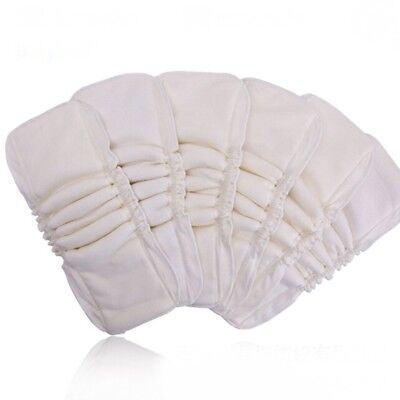 Thicken Reusable Baby Bamboo Diapers Inserts Boosters Nappy Changing Liners Pad