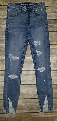 393e9cf5320c8 Womens AMERICAN EAGLE Next Level Stretch Super Hi-Rise Jegging Crop Jeans  Sz.2