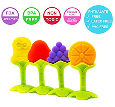 Baby Teether - Teething Toys are Made of Soft Silicone, Freezer Safe & BPA Free