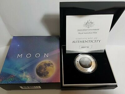 SCARCE 2019 $5 silver domed proof coin MOON in RAM package Also listed earth sun