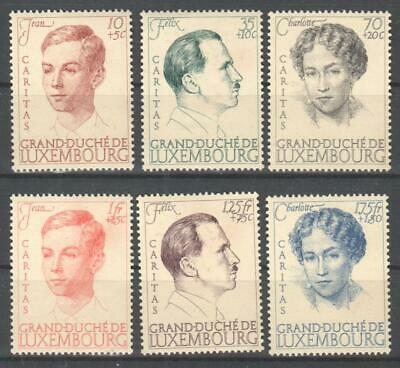 ♠ Luxembourg 1939  # 324/29 Y&T Neuf ** / Mnh  50 €     //
