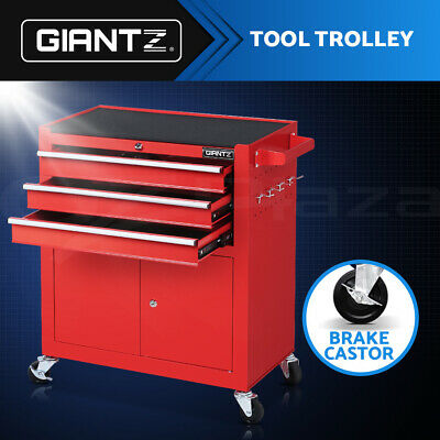 Giantz Tool Box Cabinet Trolley Toolbox Chest Cart Drawers Garage Storage Red