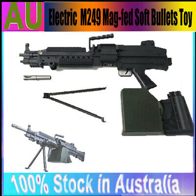 M249 Water Gel Ball Blater Toy Water Gun Upgrade Mag-fed Crystal Bullets Stock