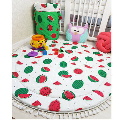 Baby Play Mat Watermelon Double-side Print Baby Blanket Kids Crawling Carpet