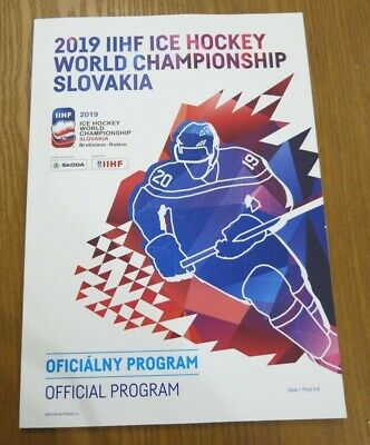 2019 IIHF Ice Hockey Official Program - Wold Championships, Slovakia