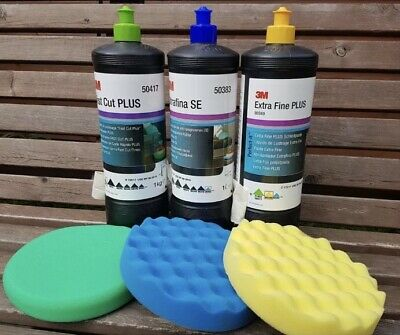 3M Perfect-it III Triple Polishing & Compounding Set , 3×1kg and 150mm pads