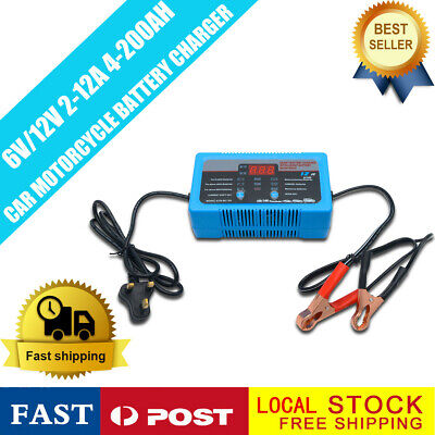 2/8/12 Amp 12Volt 6V Automatic Intelligent Battery Charger Trickle Fast Car Van