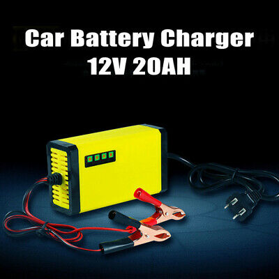 US AC110V 20AH Smart Car Battery Charger Motorcycle Automatic Maintainer Trickle