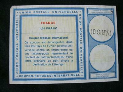 France International Reply Coupon Used