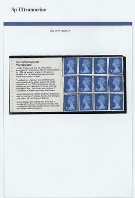 SPECIALISED COLLECTION OF UNMOUNTED MINT 3p MACHINS