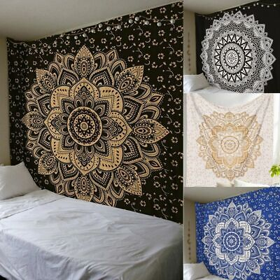 Large Indian Tapestry Wall Hanging Mandala Hippie Throw Bohemian Bedspread Cover