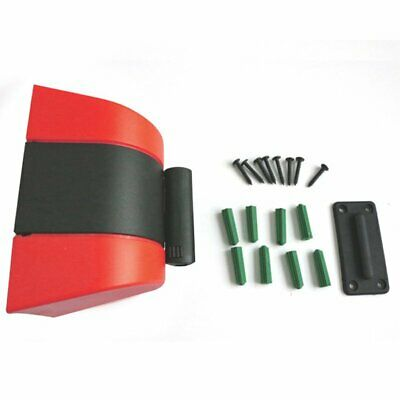 Wall Mounted 10M Retractable Barrier Tape Safety Events Hazard Warning Tape Belt