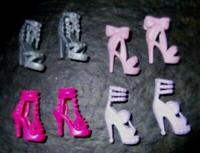 BARBIE DOLL SHOES j2 - 4 PAIRS of ASSORTED MODERN SANDALS
