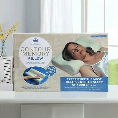 Contour Memory Foam Pillow Orthopaedic Pillow Ergonomic Back Neck Support+Cover