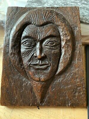 inuit eskimo Antique Carved Wooden Plaque