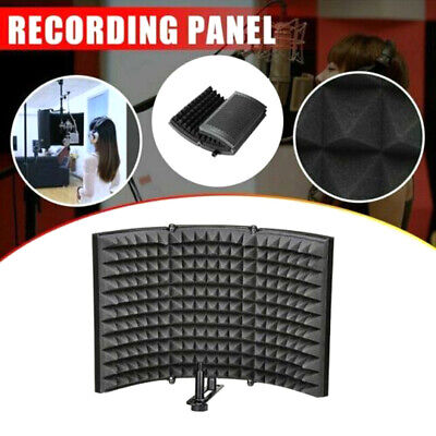Mic Sound Recording Booth Box Studio Soundproofing Foam Shield Isolation Filter