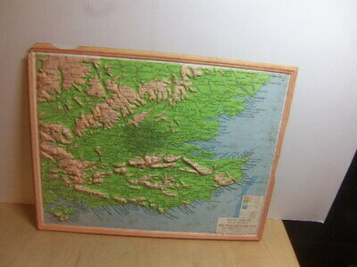 Philips Smaller Plastic Relief Models – map of South East England 1961 in box