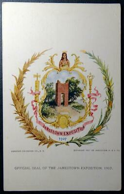 Postcard Official Seal of the Jamestown Exposition 1907