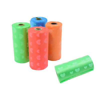 5 Roll Dog Puppy Poo Poop Waste Bags Scoop and Refill Poop Disposable Bags
