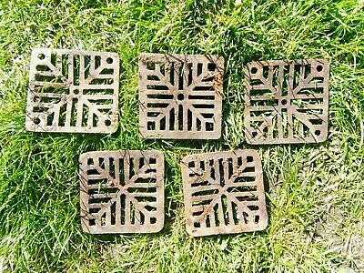 Cast iron grate covers