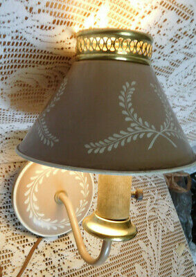 Vintage Metal Tin Tole Wall Sconce Lamp Light Mid-Century ~ FREE SHIPPING~