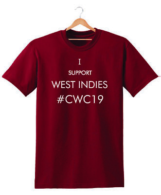 I Support West Indies Cwc 2019 T Shirt Unisex Cricket World Cup Gift Fan Wi