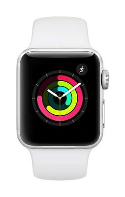 Apple Watch Series 3 38mm Aluminum Case with Sport Band - White, (MTEY2LL/A)