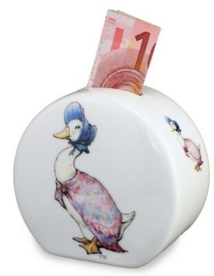Reutter Porcelain Beatrix Potter Jemima Puddle Duck China Money Bank