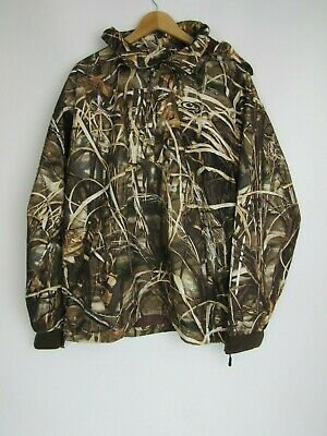 103d5cd27d318 Drake Waterfowl Systems Mens 1/4 Zip Camo Hunting Pullover Jacket  Waterproof XL