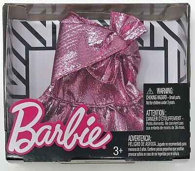 Barbie Fashion Mini Skirt Glam Pink Outfit for Doll Toy