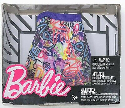 Barbie Fashion Mini Skirt Graffiti Outfit for Doll Toy