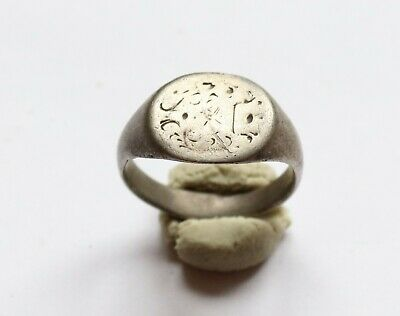 Genuine Ancient Roman Silver Seal Ring