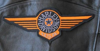 Harley Davidson Fat Boy Logo Retro 12 Inch Jacket Vest Patch