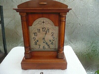 Junghans, Arts & Craft Style Westminster Chimes Bracket Clock, Superb Condition.