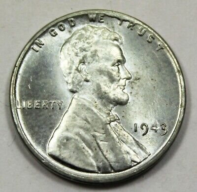 1943 United States Wartime Steel Lincoln Wheat Cent - BU Brilliant Uncirculated