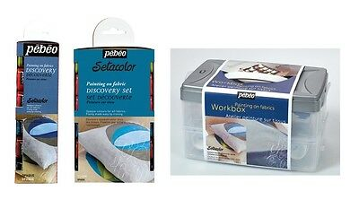Pebeo Setacolor Fabric Painting Discovery Sets Opaque Colour Textile Paint Craft