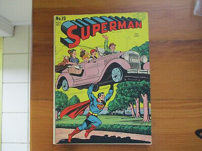 High Grade Golden Age 1942 Superman #19 Comic Book - F/Vf 7.0 White Pages
