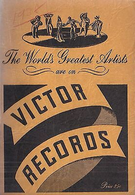 Catalog of Victor Records, 1938