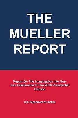 Mueller Report (English) Paperback Book Free Shipping!