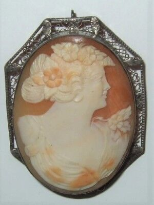 Antique Cameo Pin Pendant From Italy Beautiful Cameo Pin From Estate Collection