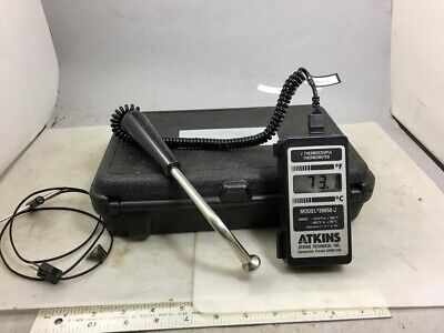 ATKINS THERMOCOUPLE THERMOMETER 39658-J, Probes, Case, NO RESERVE!