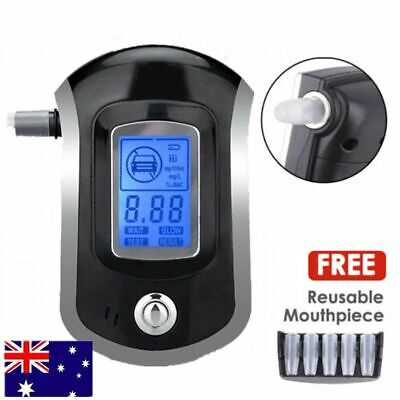 Portable Digital Alcohol Breathalyser Breath Tester Breathtester Blue LCD Hot AN