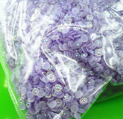 ss16 Jelly Cone round purple AB Crystal resin faceted Flat Back Rhinestones J