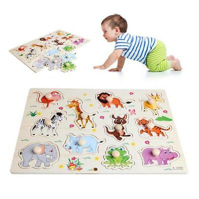 Children Puzzle Animal Shaped 3D Jigsaw Board Infants Wooden Educational Toys CO