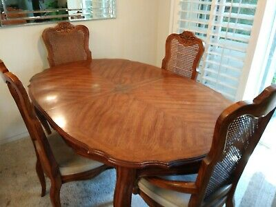 Sensational Drexel Heritage Dining Table 6 Chairs Price Reduced Bralicious Painted Fabric Chair Ideas Braliciousco